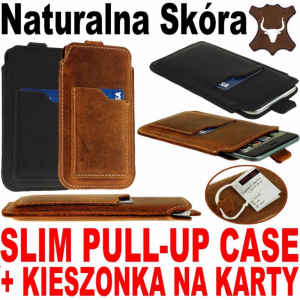 SLIM TX Etui Skóra Naturalna do telefonu Apple IPhone 8