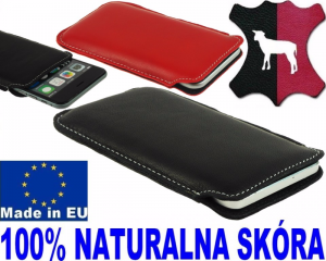 Etui Skóra Jagnięca Slim Pocket do  telefonu Apple iPhone X